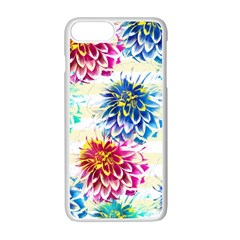 Colorful Dahlias Apple Iphone 7 Plus White Seamless Case