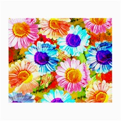 Colorful Daisy Garden Small Glasses Cloth (2 Side)