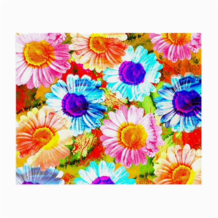 Colorful Daisy Garden Small Glasses Cloth (2-Side)