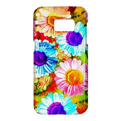 Colorful Daisy Garden Samsung Galaxy S7 Hardshell Case