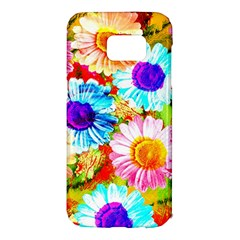 Colorful Daisy Garden Samsung Galaxy S7 Edge Hardshell Case