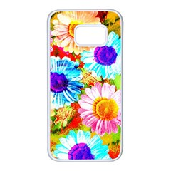 Colorful Daisy Garden Samsung Galaxy S7 White Seamless Case