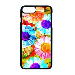 Colorful Daisy Garden Apple Iphone 7 Plus Seamless Case (black)
