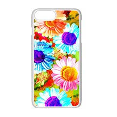 Colorful Daisy Garden Apple Iphone 7 Plus White Seamless Case