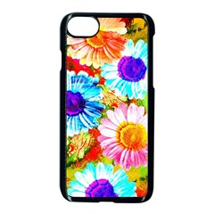 Colorful Daisy Garden Apple Iphone 7 Seamless Case (black)