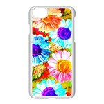 Colorful Daisy Garden Apple iPhone 7 Seamless Case (White) Front
