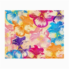 Colorful Pansies Field Small Glasses Cloth (2 Side)