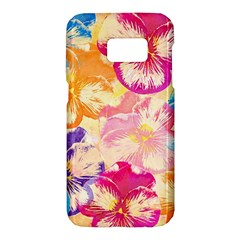 Colorful Pansies Field Samsung Galaxy S7 Hardshell Case
