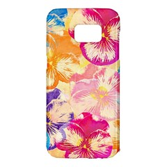 Colorful Pansies Field Samsung Galaxy S7 Edge Hardshell Case