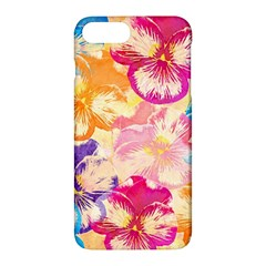 Colorful Pansies Field Apple Iphone 7 Plus Hardshell Case