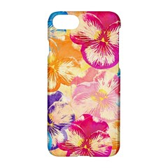 Colorful Pansies Field Apple Iphone 7 Hardshell Case
