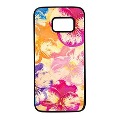 Colorful Pansies Field Samsung Galaxy S7 Black Seamless Case