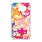 Colorful Pansies Field Samsung Galaxy S7 White Seamless Case Front