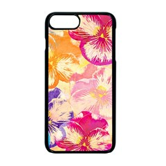 Colorful Pansies Field Apple Iphone 7 Plus Seamless Case (black)