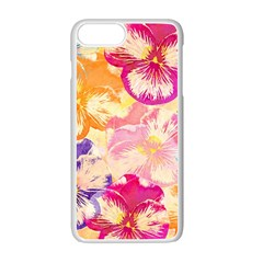Colorful Pansies Field Apple Iphone 7 Plus White Seamless Case
