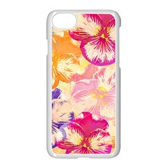 Colorful Pansies Field Apple Iphone 7 Seamless Case (white)
