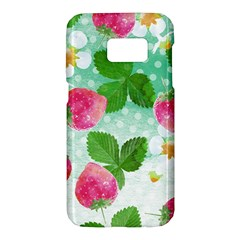 Cute Strawberries Pattern Samsung Galaxy S7 Hardshell Case