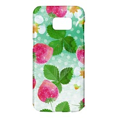Cute Strawberries Pattern Samsung Galaxy S7 Edge Hardshell Case