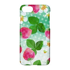 Cute Strawberries Pattern Apple Iphone 7 Hardshell Case