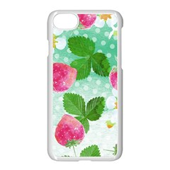 Cute Strawberries Pattern Apple Iphone 7 Seamless Case (white)