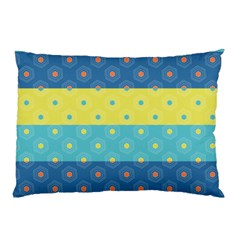 Hexagon And Stripes Pattern Pillow Case