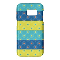 Hexagon And Stripes Pattern Samsung Galaxy S7 Hardshell Case