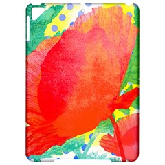 Lovely Red Poppy And Blue Dots Apple Ipad Pro 9 7   Hardshell Case