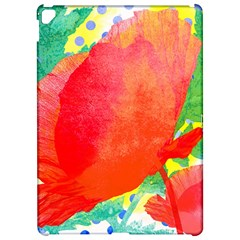 Lovely Red Poppy And Blue Dots Apple Ipad Pro 12 9   Hardshell Case