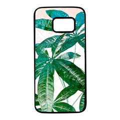 Pachira Leaves  Samsung Galaxy S7 Black Seamless Case