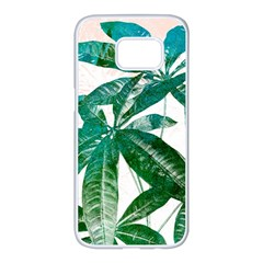 Pachira Leaves  Samsung Galaxy S7 edge White Seamless Case
