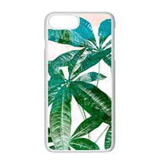 Pachira Leaves  Apple Iphone 7 Plus White Seamless Case