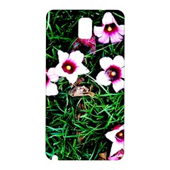 Pink Flowers Over A Green Grass Samsung Galaxy Note 3 N9005 Hardshell Back Case