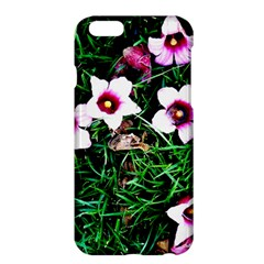 Pink Flowers Over A Green Grass Apple Iphone 6 Plus/6s Plus Hardshell Case