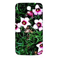 Pink Flowers Over A Green Grass Samsung Galaxy Mega I9200 Hardshell Back Case