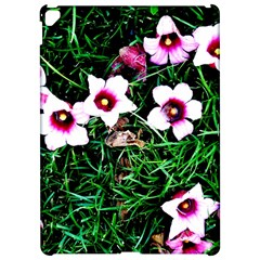 Pink Flowers Over A Green Grass Apple Ipad Pro 12 9   Hardshell Case