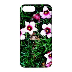 Pink Flowers Over A Green Grass Apple Iphone 7 Plus Hardshell Case