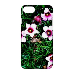 Pink Flowers Over A Green Grass Apple Iphone 7 Hardshell Case