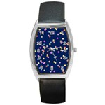 Playful Confetti Barrel Style Metal Watch Front