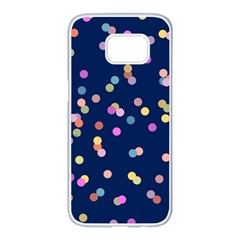 Playful Confetti Samsung Galaxy S7 edge White Seamless Case