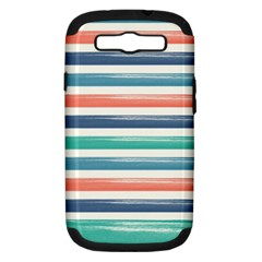 Summer Mood Striped Pattern Samsung Galaxy S Iii Hardshell Case (pc+silicone)