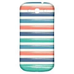Summer Mood Striped Pattern Samsung Galaxy S3 S Iii Classic Hardshell Back Case