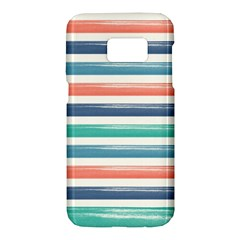 Summer Mood Striped Pattern Samsung Galaxy S7 Hardshell Case