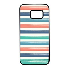 Summer Mood Striped Pattern Samsung Galaxy S7 Black Seamless Case