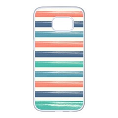 Summer Mood Striped Pattern Samsung Galaxy S7 edge White Seamless Case