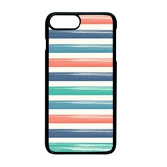 Summer Mood Striped Pattern Apple Iphone 7 Plus Seamless Case (black)