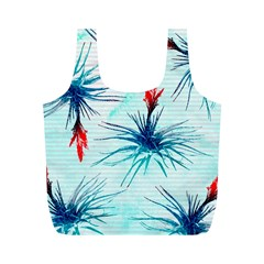 Tillansia Flowers Pattern Full Print Recycle Bags (m)