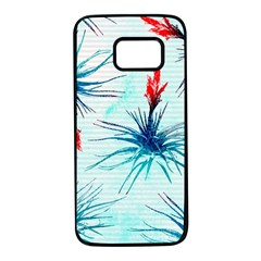 Tillansia Flowers Pattern Samsung Galaxy S7 Black Seamless Case