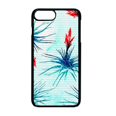 Tillansia Flowers Pattern Apple Iphone 7 Plus Seamless Case (black)