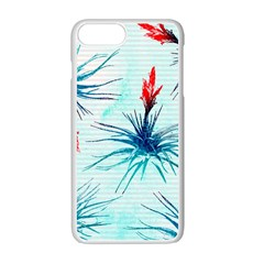 Tillansia Flowers Pattern Apple Iphone 7 Plus White Seamless Case