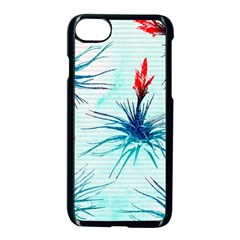 Tillansia Flowers Pattern Apple Iphone 7 Seamless Case (black)